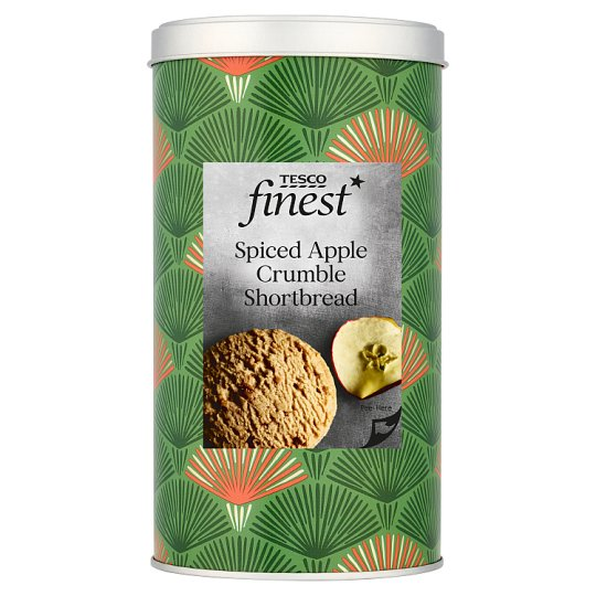 Tesco Finest Spiced Apple Crumble Shortbread 160G