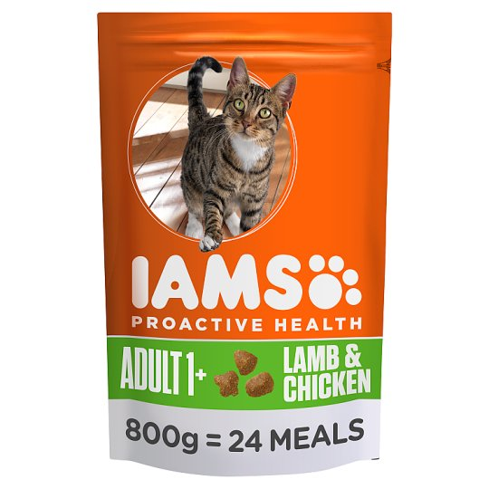 Iams Lamb Dry Cat Food 800G