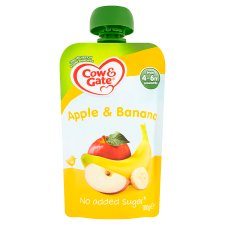 Cow And Gate Fruit Pouch 4 Mth+ Apple And Banana 100G