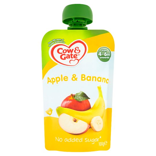 image 1 of Cow And Gate Fruit Pouch 4 Mth+ Apple And Banana 100G