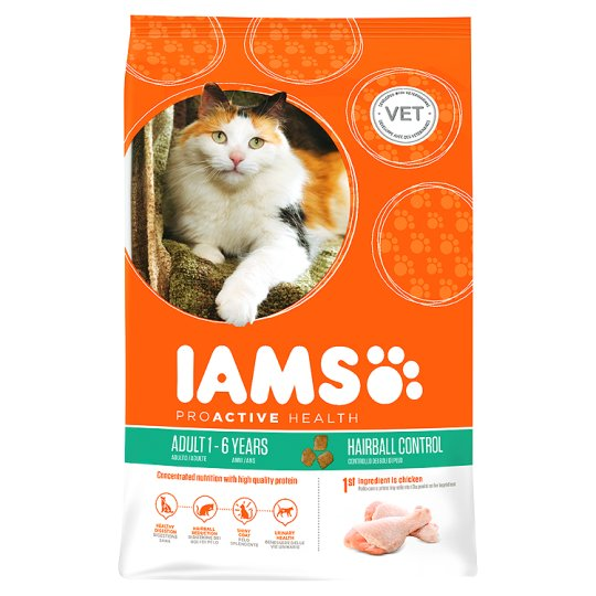Iams Cat Food Adult Hairball Chicken 700G