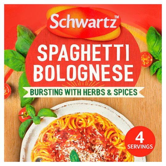 Schwartz Authentic Spaghetti Bolognese Sauce Mix 40g Tesco Groceries