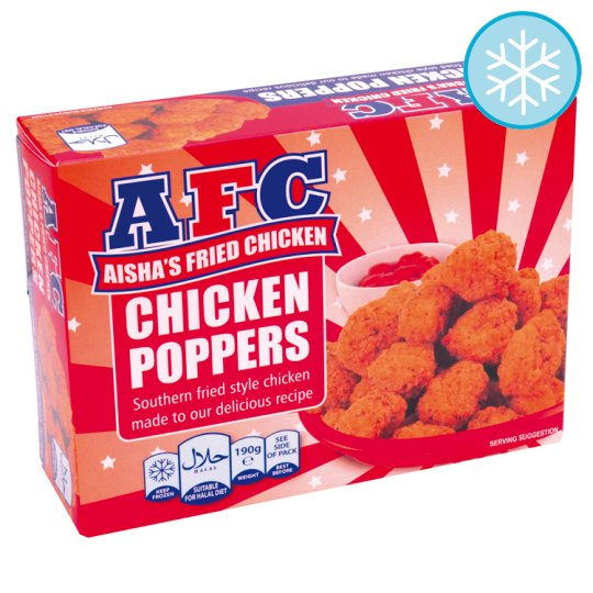 Aishas Halal Fried Chicken Poppers 190G