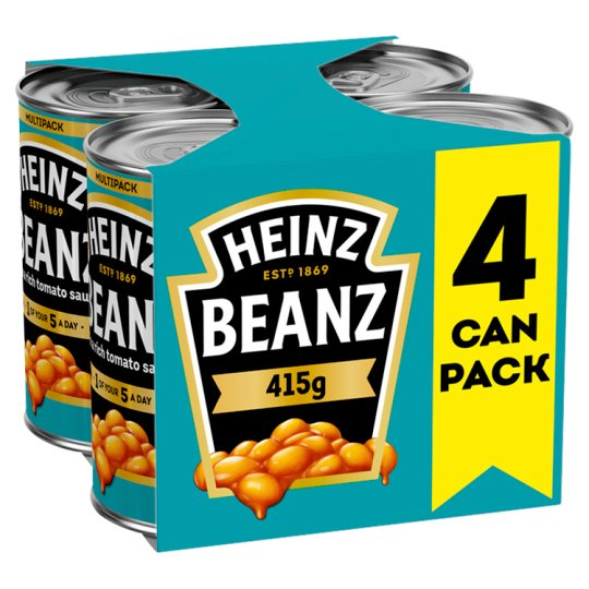 Heinz Baked Beans In Tomato Sauce 415G X 4 Pack