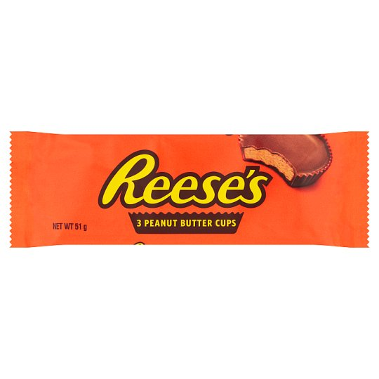 Reeses Peanut Butter Cups 3 Pack 51G