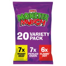 Walkers Monster Munch Variety Snacks 20 X 22G