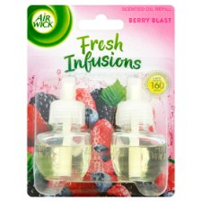 Airwick Air Freshener Berry Blast Plug In Refill 2 X 19 Ml