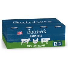 Butcher's Tripe Loaf Dog Food Tins 12X400g