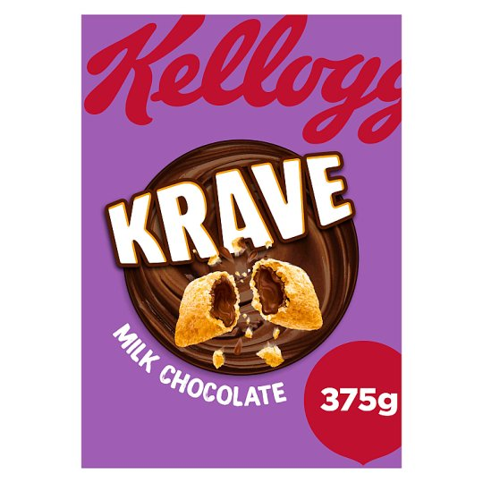 Kelloggs Krave Milk Chocolate Cereal 375G
