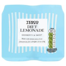 Tesco Diet Lemonade 4X330ml