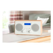 Tesco Wooden Stereo Dab And Fm Radio Wood