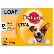Pedigree Loaf Dog Food Pouches 24 Pack