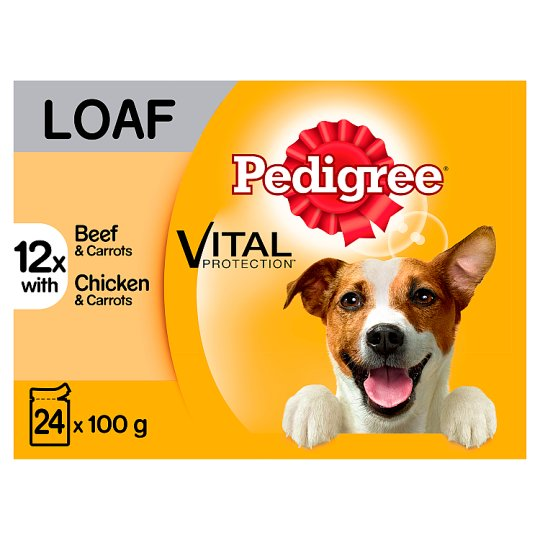 image 1 of Pedigree Loaf Dog Food Pouches 24 Pack
