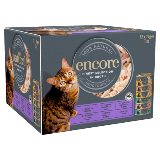 Encore Cat Food Mixed Selection Tins 12X70g