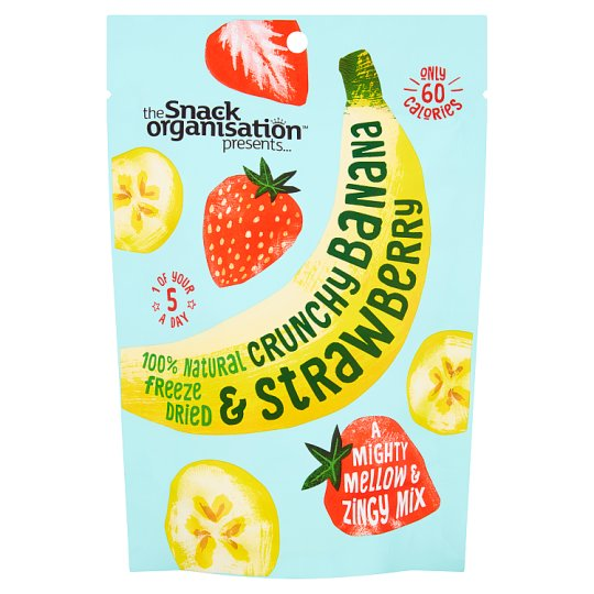 Snack Organisation Dried Banana And Strawberry 18G