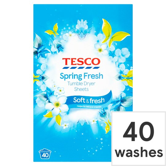 Tesco Spring Fresh Tumble Dryer Sheets 40S