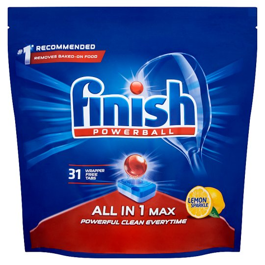 image 1 of Finish All In One Max Lemon 31 Dishwasher Tablets