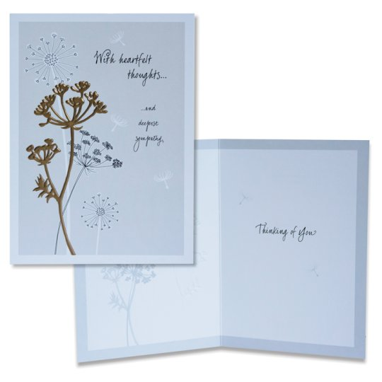 Hallmark Sympathy Card With Heartfelt Thoughts