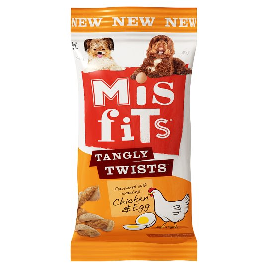 Misfits Tangly Twists Chicken And Egg 140G