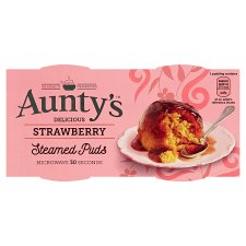 Auntys Strawberry Puddings 2X95g