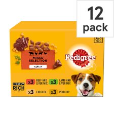 Pedigree Dog Food Pouches Favourites Jelly 12x100g