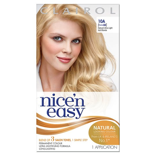 Nice N Easy Permanent Ultra Light Ash Blonde 10a Hair Dye