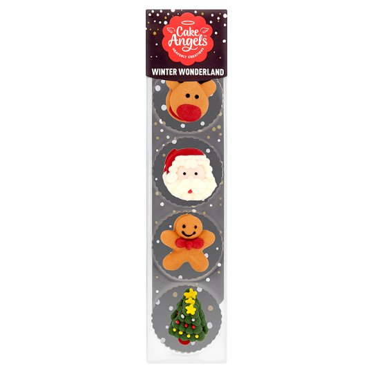 Cake Angels 10 Festive Fun Decorations Tesco Groceries
