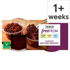 Tesco Free From Chocolate Mousse 2 X90g