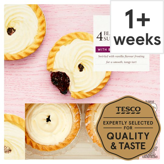 Tesco Blackcurrant Sundae Tarts 4 Pack