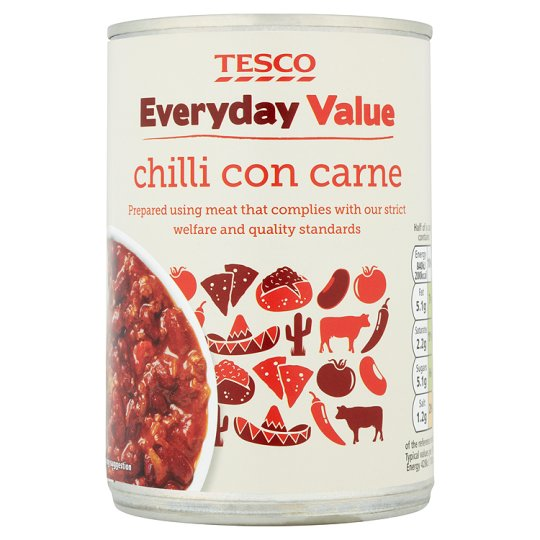 3a416041addfc Tesco Everyday Value Chilli Con Carne 392G - Tesco Groceries