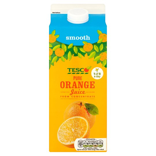 Tesco Pure Orange Juice 2L