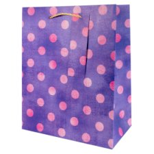 Tesco Washed Pink Spot Bag - Medium