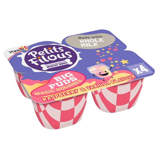 image 1 of Petits Filous Magic Squares Raspberry Vanilla Yogurt 4 X80g
