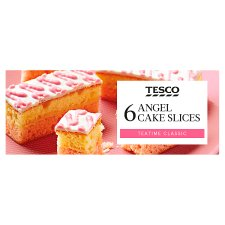 Tesco Angel Cake Slices 6 Pack