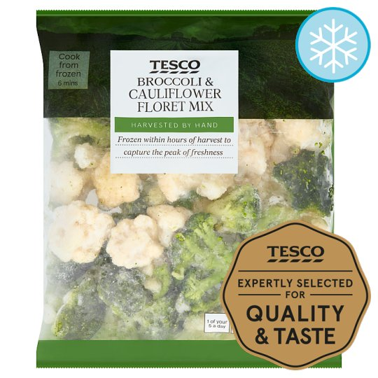 Tesco Broccoli And Cauliflower Floret Mix 900G