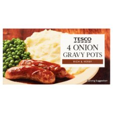 Tesco Onion Gravy Pot 4 Pack 112G