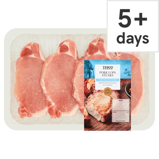 Tesco Pork Loin Steaks 4 Pack 540G