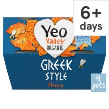 Yeo Valley Honey Greek Style Yogurt 4 X100g
