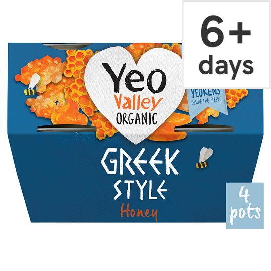 Yeo Valley Greek Style Honey Yoghurt 4X100g