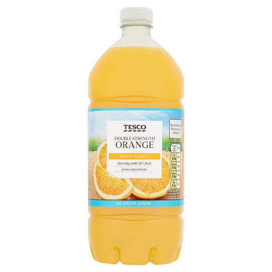 Tesco double strength orange squash no added sugar 1 5l for Cocktail 5l