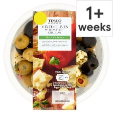 Tesco Mixed Olives With Cheddar 220G