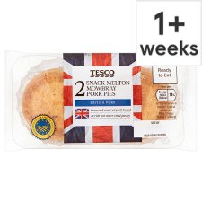 Tesco 2 Snack Melton Mowbray Pork Pies 150G