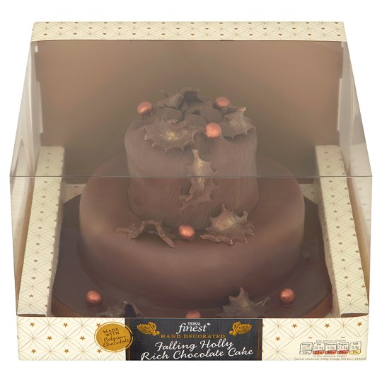 Tesco Holly Cake Decoration : Tesco Finest Falling Holly Chocolate Cake - Groceries ...