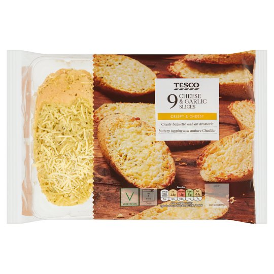Tesco 9 Cheese And Garlic Slices 310G