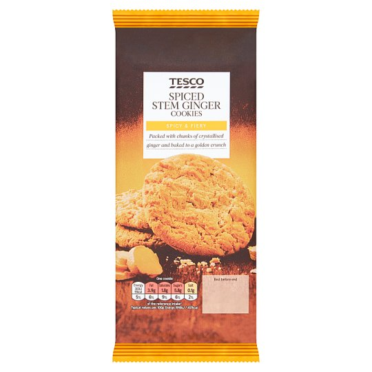 Tesco Spiced Stem Ginger 10 Cookies 200G