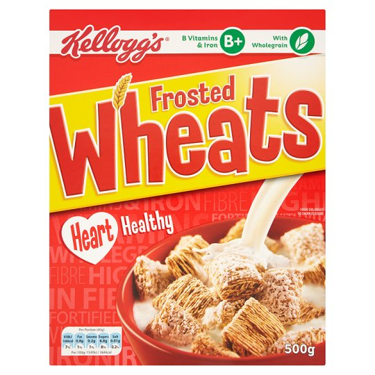 Kelloggs Frosted Wheats Cereal 500G