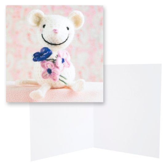 Paper Rose Blank Card