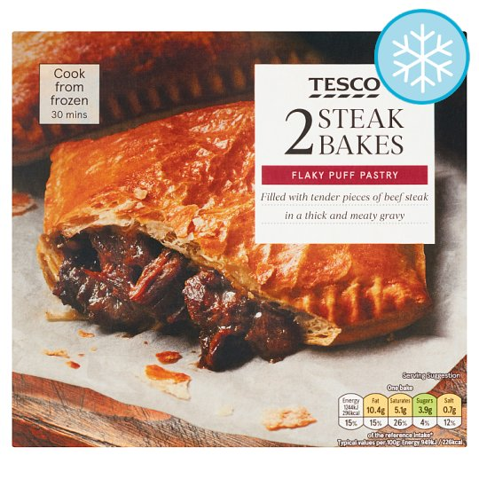 Tesco 2 Steak Bakes 280G