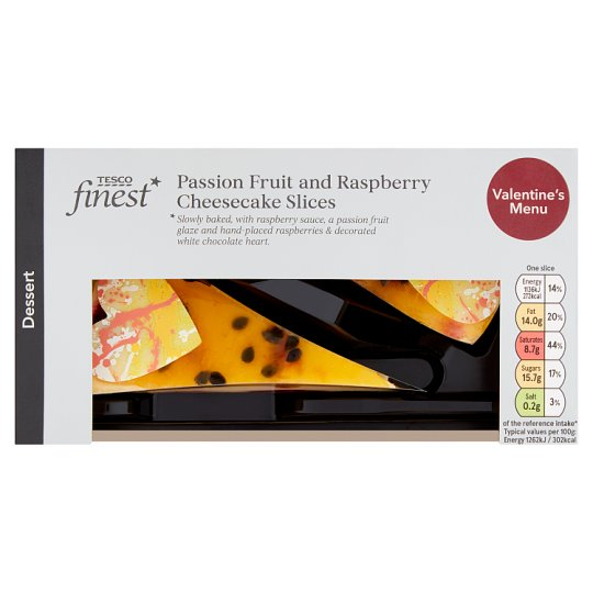 Tesco Finest Raspberry And Passion Fruit Cheesecake 180G