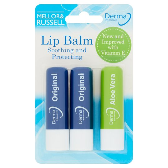 Derma Intensive Lip Balms Triple Pack